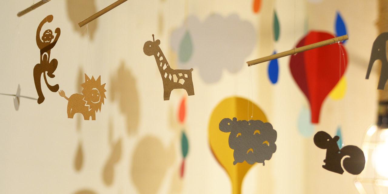 [夏休みの自由研究]気球も動物も!紙とはさみで簡単モビール作り。DIY Paper Mobiles- balloons&animals