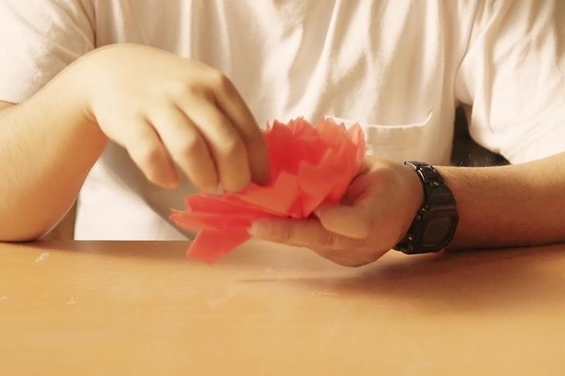立体的なお花を作る