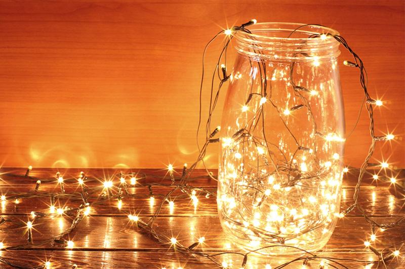 空き瓶ランプ