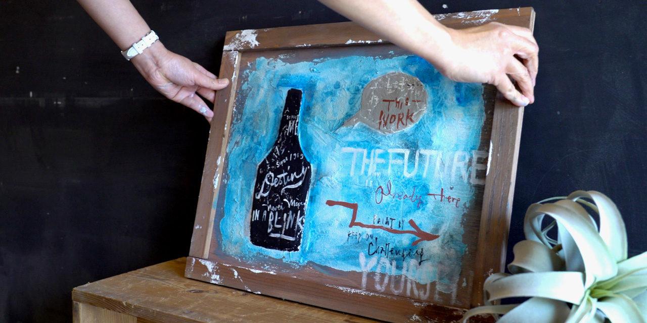 漆喰を使った立体パネルにペインティング! Plaster panel DIY
