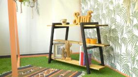 家でも外でも!棚板を動かせるアイアン風ラック【図面付き】- Wooden rack shelf DIY