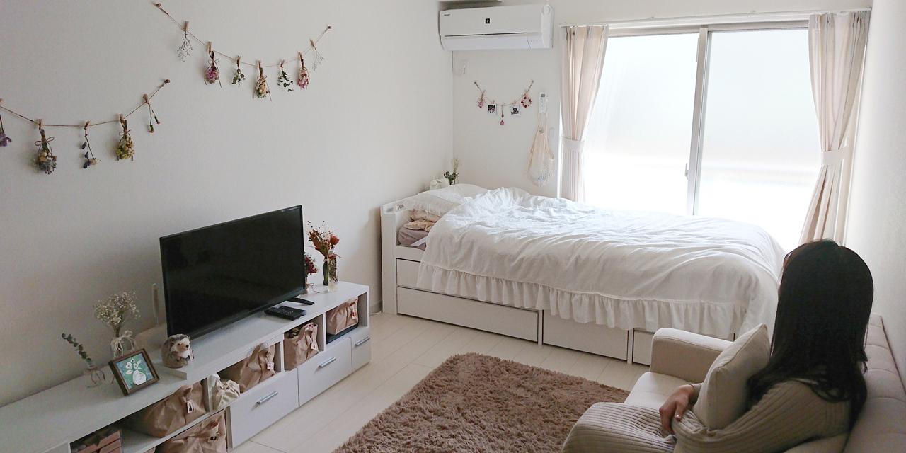 【こだわりの部屋づくりvol.6】白を基調に! 小物でガーリーさを表現したかわいい部屋(のんさん)