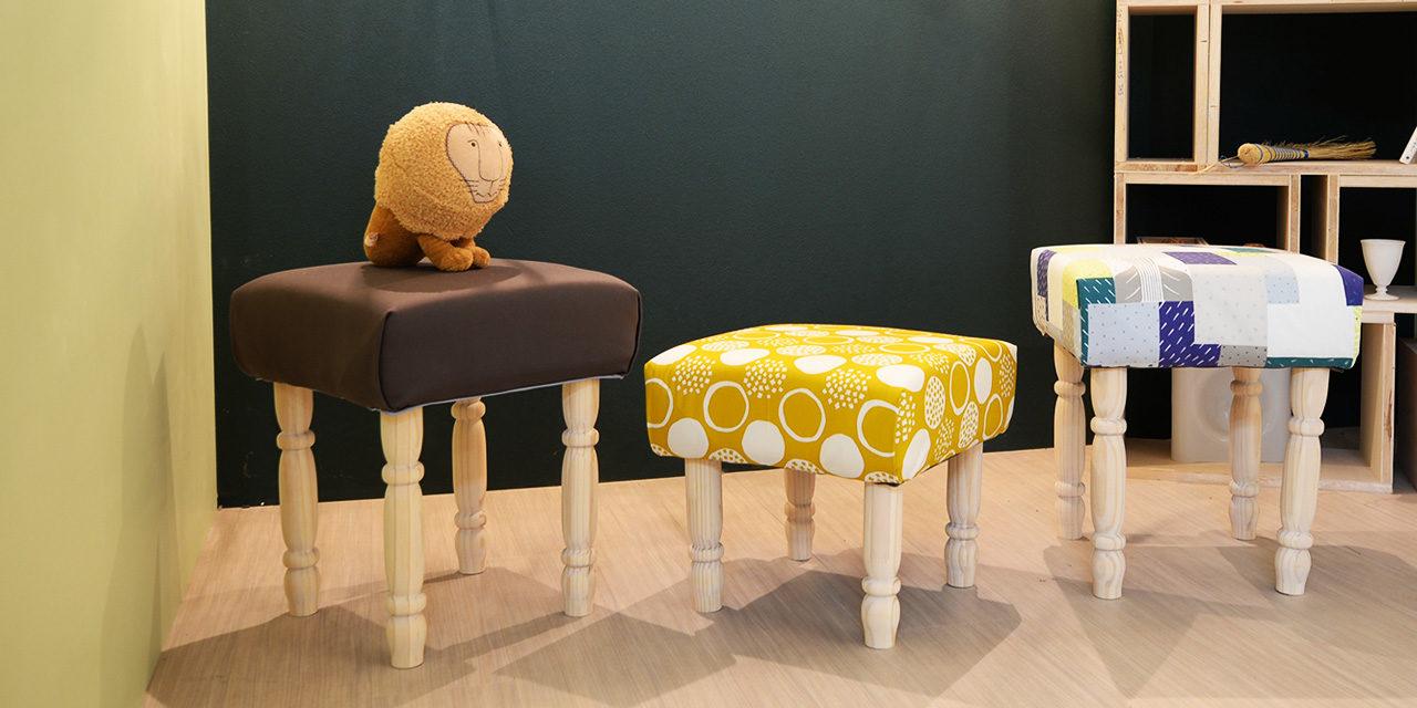 [ナチュラルインテリア]好きな布を使って簡単カラフルスツール-Colorful Stool DIY