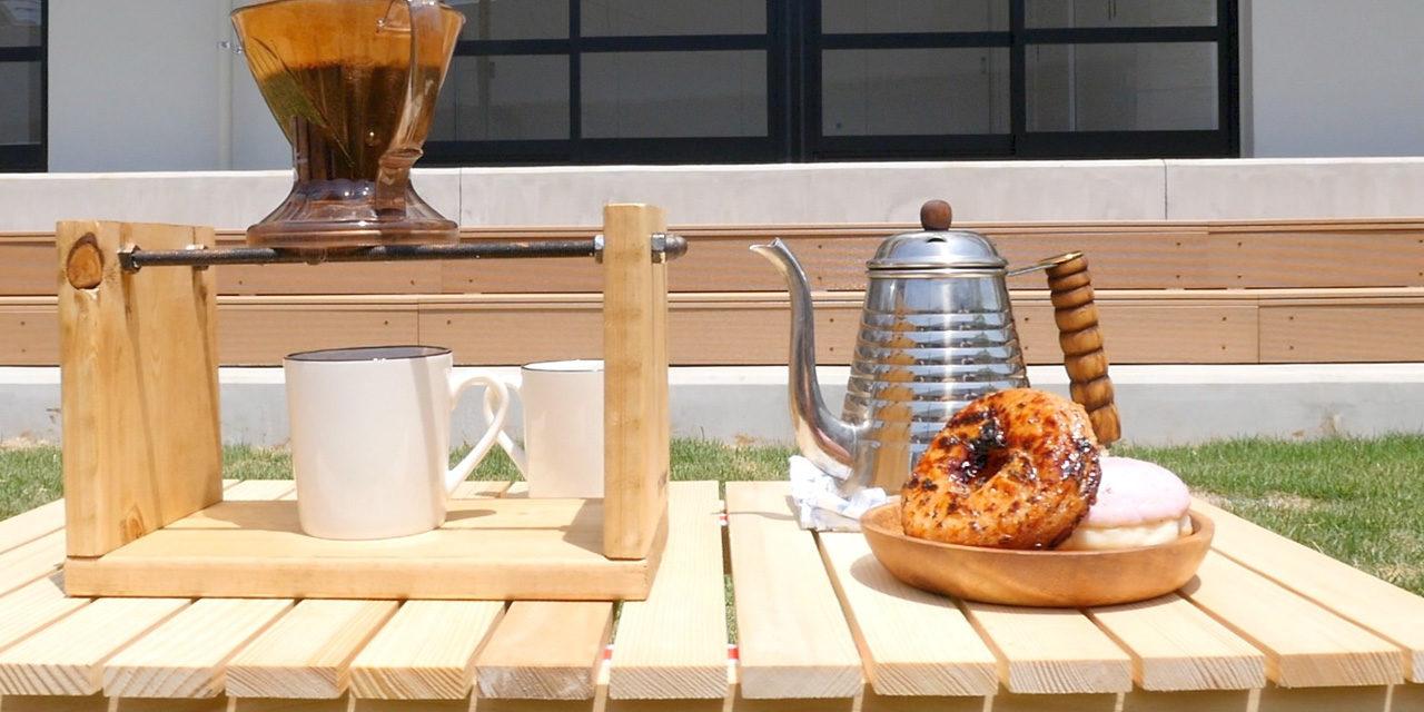 [おうちカフェ]ドリッパースタンドをDIY!サビ加工に簡単ステンシルも- Coffee brewer stand DIY& add rust effect