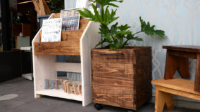 キャスター付き・杉板で簡単PLANTS鉢カバーを作ろう!