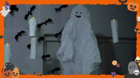 [ハロウィンDIY]かわいいゴースト&グルーガンで作るろうそくを飾っておうちでハロウィン!- Halloween DIY
