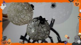 """[ハロウィンDIY]ハロウィン直前でも作れちゃう。クモの巣と""""怖かわいい""""スパイダー!- Halloween DIY"""