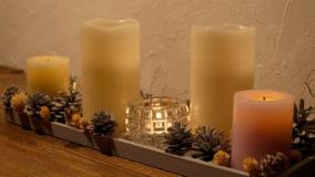 【クリスマス×100均】ダイソーとセリアのコラボでテーブルオーナメント!