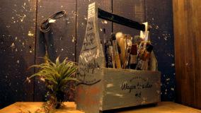 ボトルの形がかわいいオカモチの作り方♬  -Wooden carrying box DIY