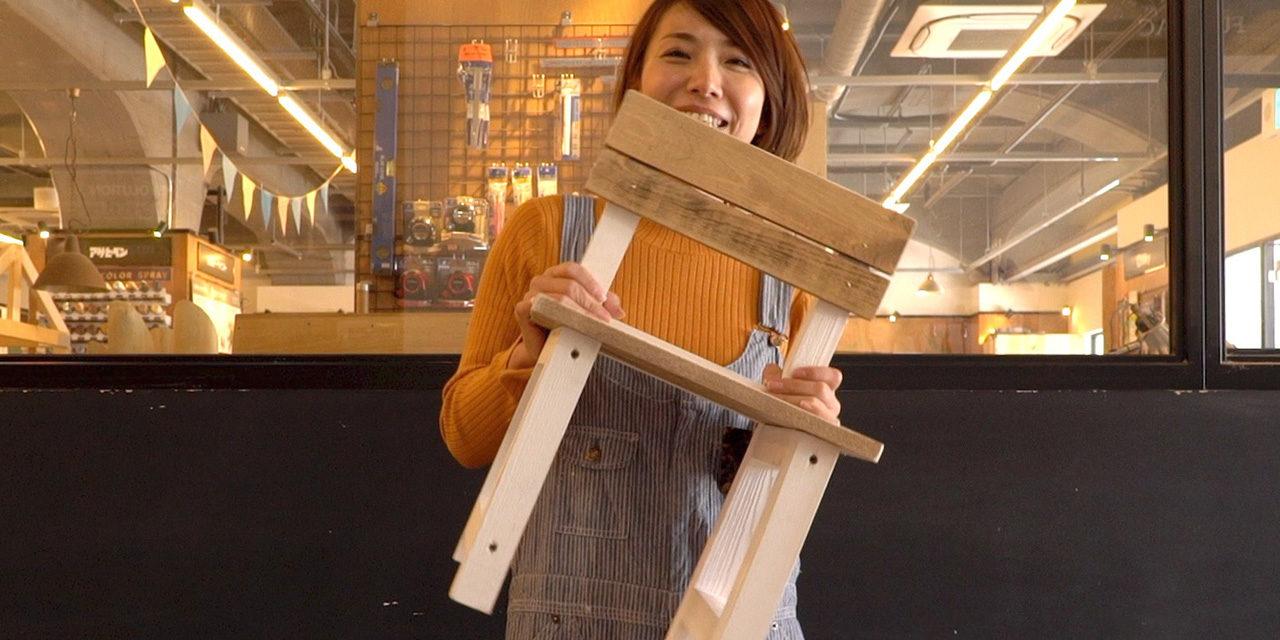 ミルクペイントとオイルのバイカラーキッズチェア-Bicolor kids chair DIY