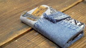 デニムリメイク!オリジナルスマホケースを作ろう♪  Denim phone case made from recycled jeans