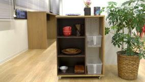 カラーボックスで作るキッチンワゴン- 有孔ボード付き【図面付き】- Kitchen wagon DIY