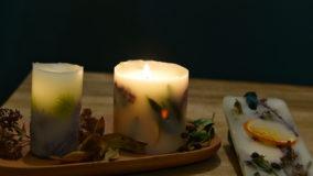 [ボタニカルキャンドル]アロマ香るキャンドルを手作り!Botanical candle DIY-レシピ&撮影バックステージ