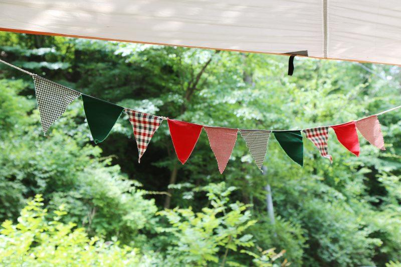 テント装飾の定番!ガーランド
