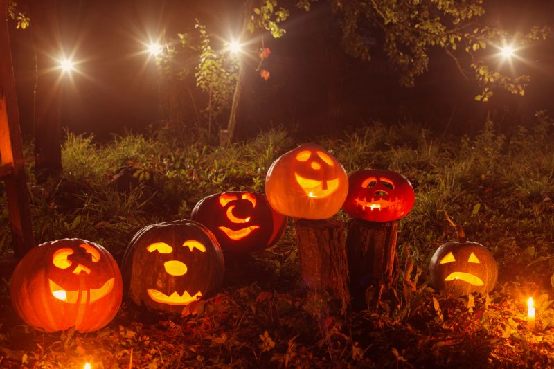 ランタンがあれば、夜もハロウィンムード全開