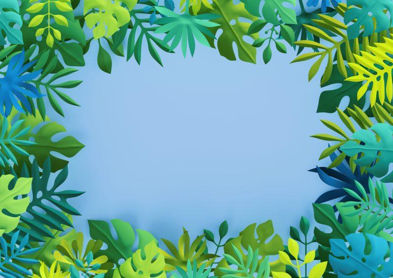 ハワイ風のデザイン