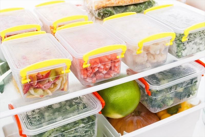 容器に入った食材は残量も見やすいです