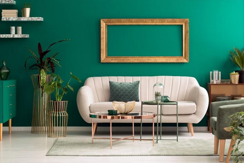 緑は気持ちを穏やかにしてくれる色なので壁紙に