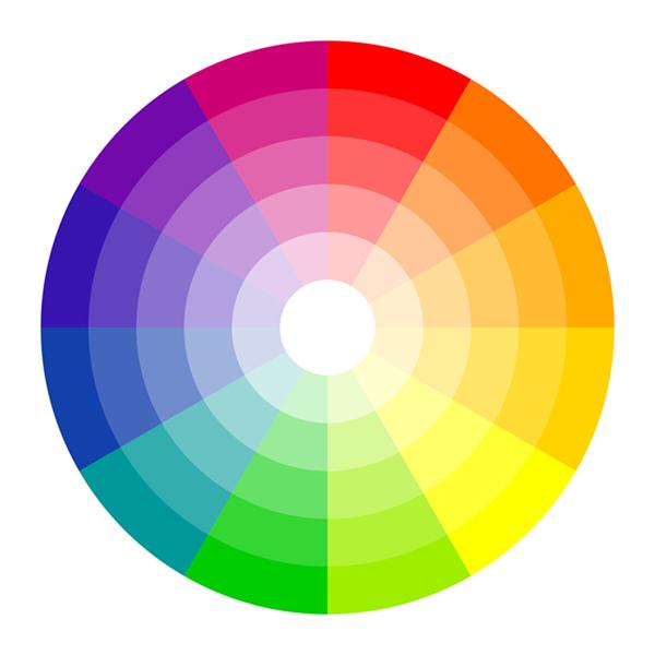 コントラストの対比がわかりやすいカラーパレット