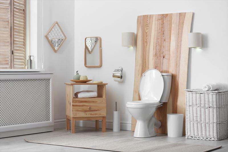 統一感のあるトイレ空間