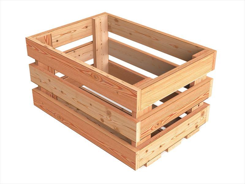 木材を使用した収納ボックス