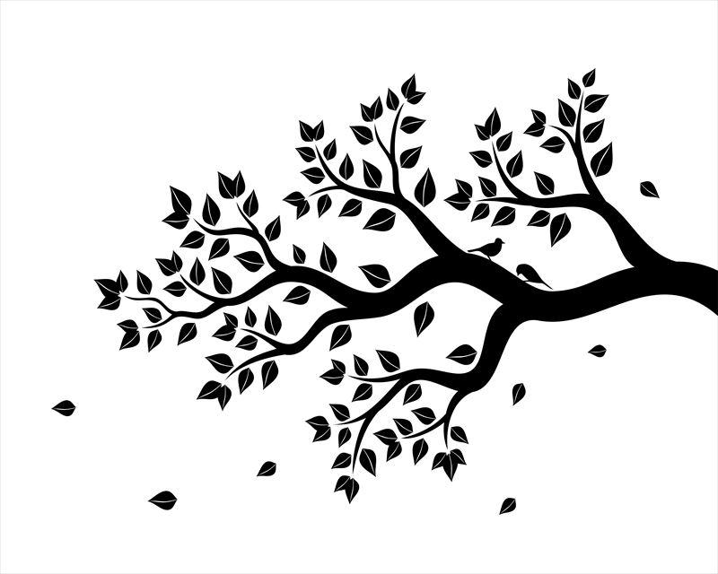 モノクロ植物のウォールシール