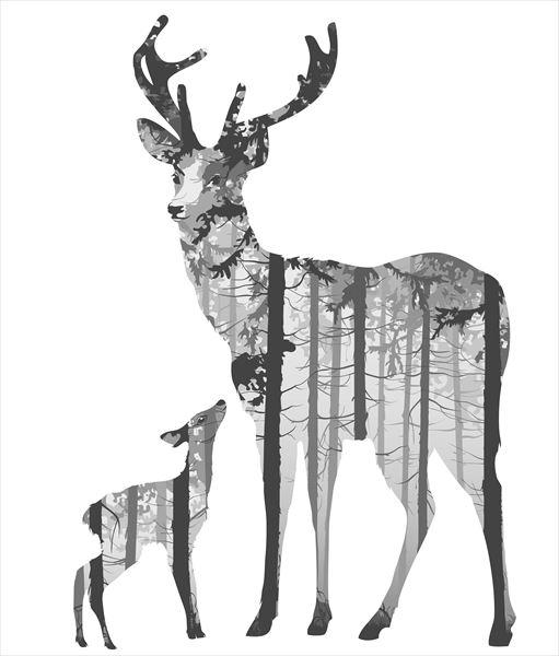 動物デザインのウォールシール