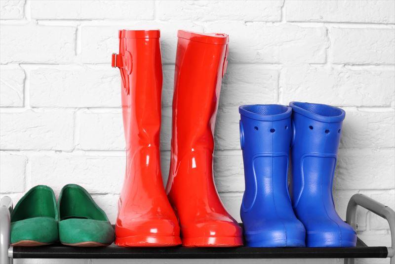 雨天時用の靴収納