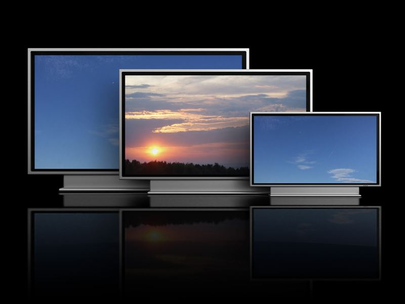 大きさ様々なテレビ