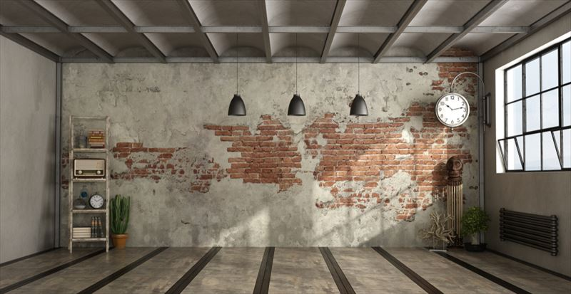 レンガ模様の壁