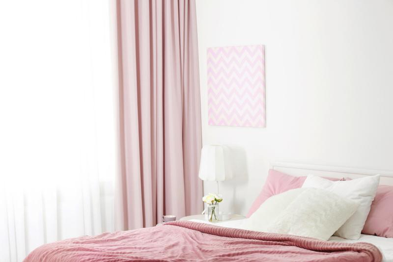 カーテンの色を上手く組み合わせたカーテン