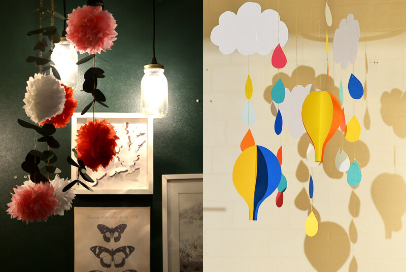DIY Paper Mobiles- balloons&animals