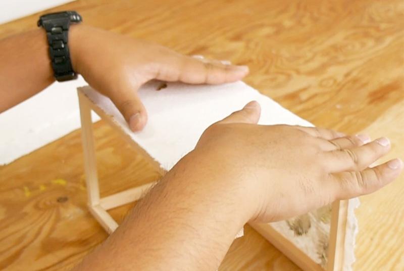 台紙を貼り付ける