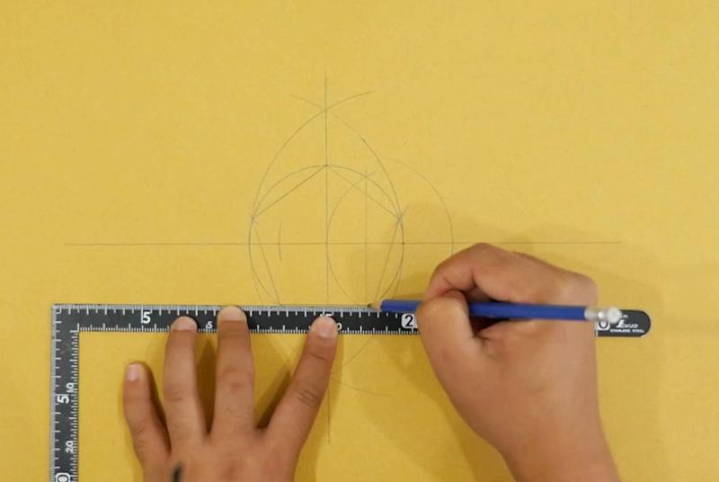 五角形を描く