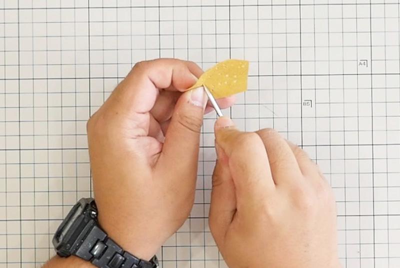 五角形に穴を開ける
