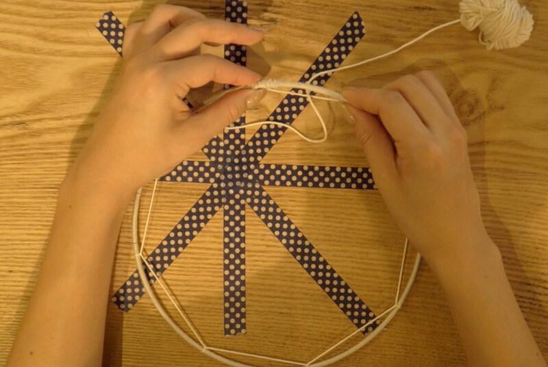 八角形に編む