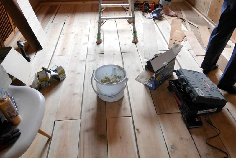 床貼り後の状態