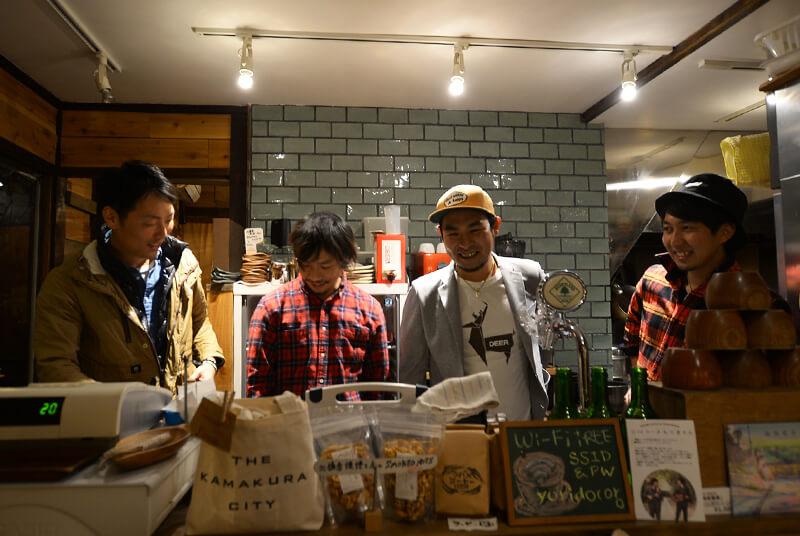 左から大和久洋人さん・中田よしのりさん・恵 武志さん・谷和真さん