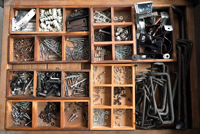 DIY用の道具やストックもすっきり収納