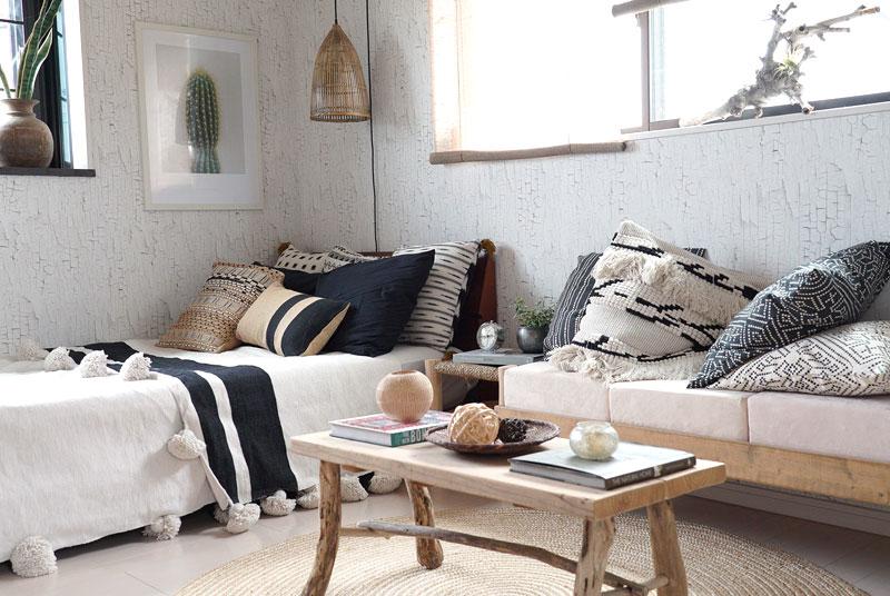 2階の寝室。こちらも写真で見える家具は全てゆぴのこさん作