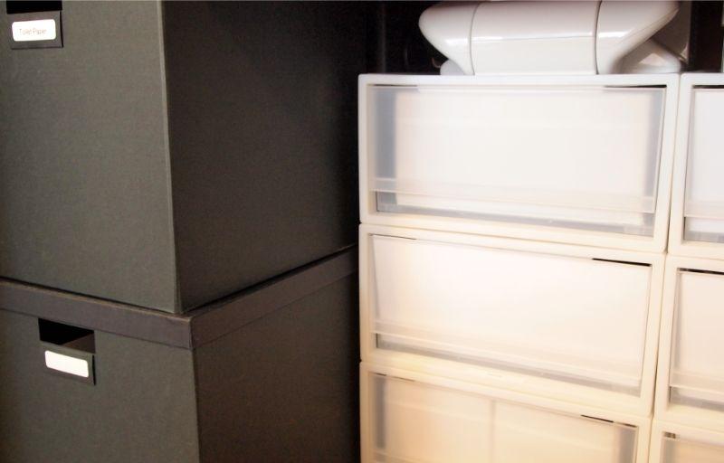 工夫した収納ボックス
