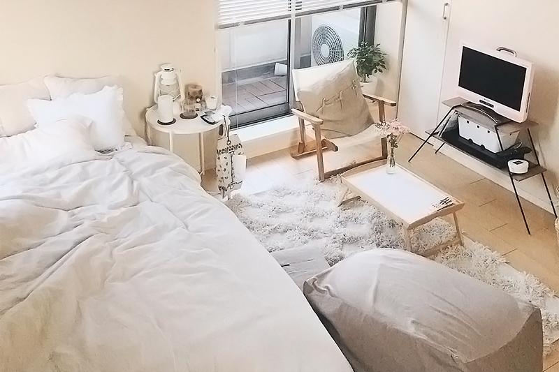 コンセプトはリラックスできる優しい部屋