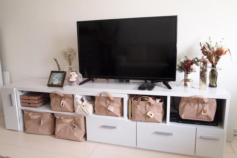 収納スペースが豊富なテレビ台
