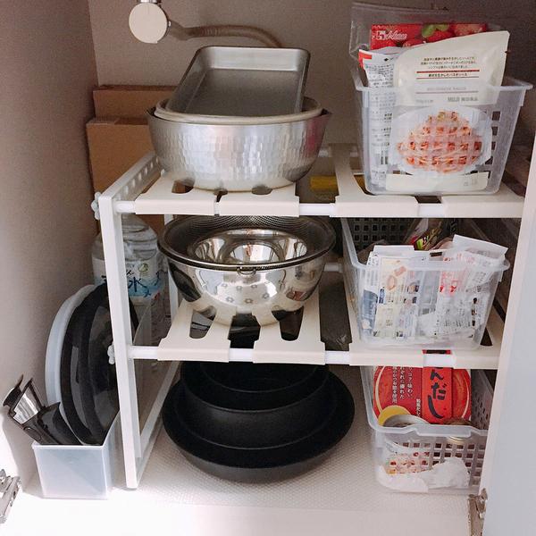 整理整頓されたキッチン下収納2