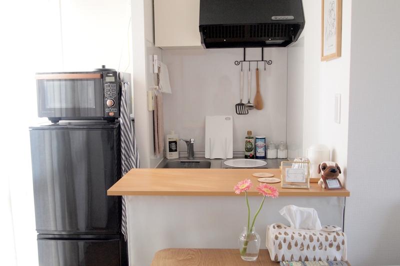 手づくりのキッチンカウンター