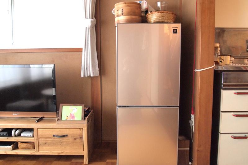 冷蔵庫と調理道具
