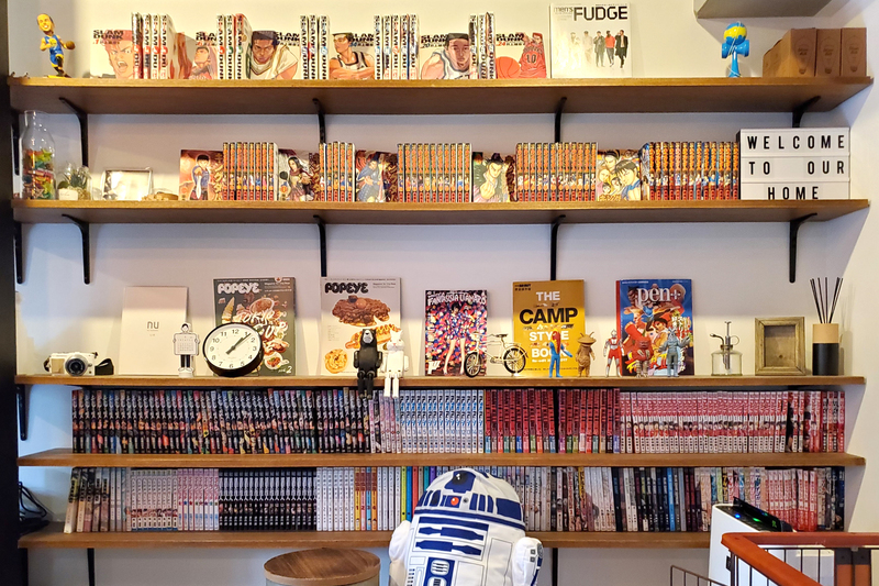 雰囲気アップの本棚