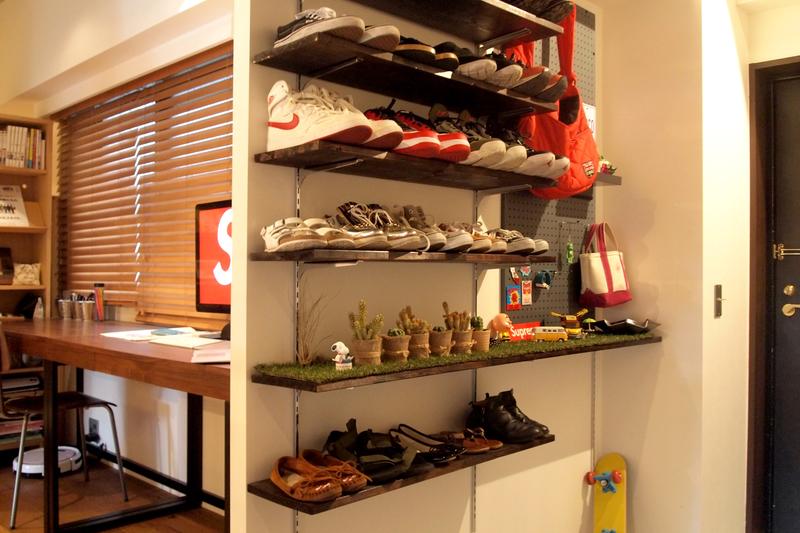 DIYした靴箱
