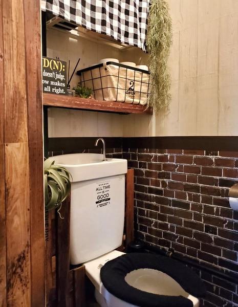 カジュアルな雰囲気のトイレ