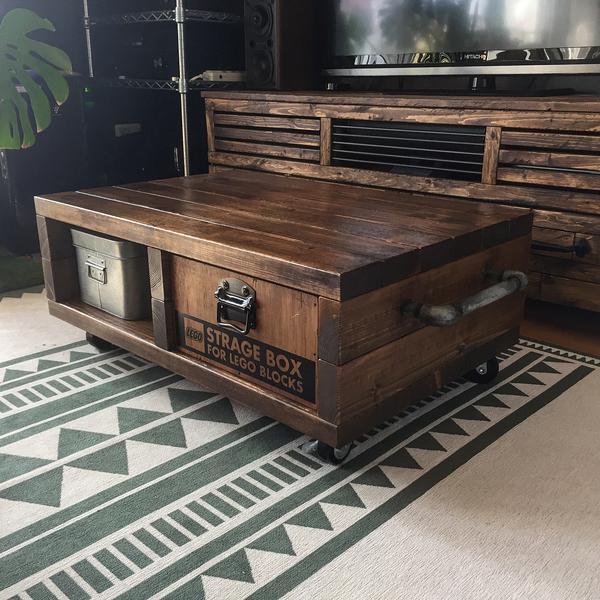 セルフリノベーションしたローテーブル